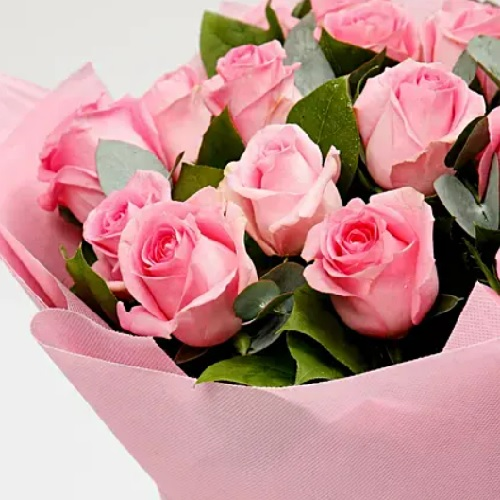 Bunch Of 20 Pink Roses15