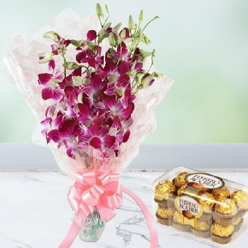 Orchid With Rocher1